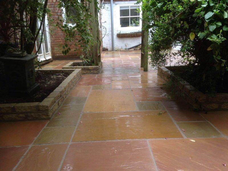 sandstone patio - hadlow