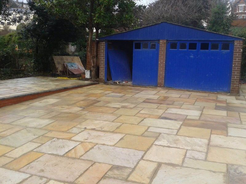 Indian Sandstone Driveway and Patio - St Leonards, East Sussex