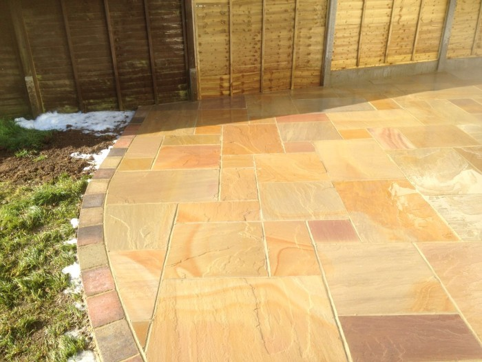 Sandstone Patio - St Leanords On Sea, Sussex
